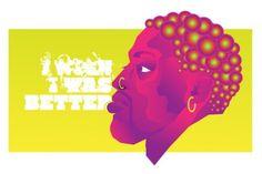 Dennis Rodman #vector #dennis #illustration #portrait #gradient #rodman