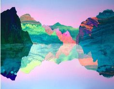 Film It / , #bright #illustration #mountains #reflection