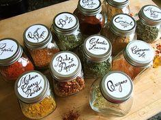 Jacqui Oakley Illustration & Hand-Lettering #spice #handlettering #herb #basil #oregano #food #cilantro #paprika #cinnamon