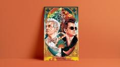 Good Omens : Alternate Movie Poster - The Commas #goodomens #amazonprime #primeoriginal #alternativeposter #poster #posterdesign #thecommas