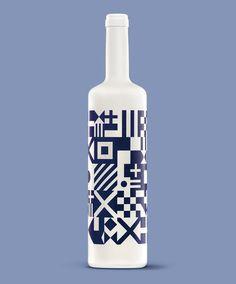 Diseño de Botella de Vino Albariño #white #spain #bottle #packaging #design #wine #albariã±o #sea #oloramar #flags