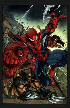 Avenging Spiderman #spiderman #joe mad
