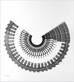 Galerie [DAM]Berlin - - Mark Wilson/Mark Wilson, 4K92, 1992, ink on paper, 91 x 91 cm #mark #abstract #generative #plotter #wilson #art #drawing