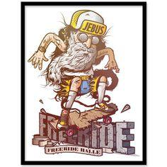 JEBUS - Freeride #illustration #freeride #jebus
