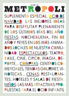 La Luna de Metrópoli | Magazine Covers #colorful #poster #typography