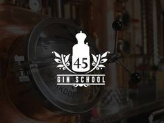 45 Gin School #berries #west #branding #alcohol #45 #type #graphic #design #distillery #typographic #brand #gin #identity #industrial #numbers #logo #distill #still