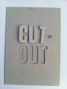 Cut Out prototype by Olly Moss #font #lettering #design #typography