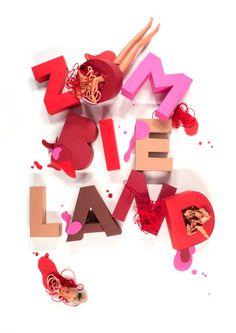 Designer of the week 10/02/2014Carolin Wanitzek | http://carolinwanitzek.deCarolin is a Communication Designer based in Mannheim/Ger #blood #lettering #zombie #barbie #typography