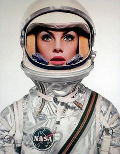 Astronaut woman. #fashion #nasa #astronaut #60s