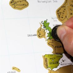Scratch Travel Map of the World #tech #flow #gadget #gift #ideas #cool