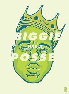 Biggie Illustration « RONLEWHORN #print #design #illustration #portrait #rapper #art #face #drawing #typography