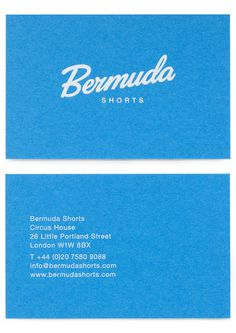 StudioThomson – Bermuda Shorts #print #business card #stationery