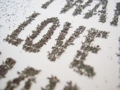 Magnetic Typography #magnetic #typeface #installation