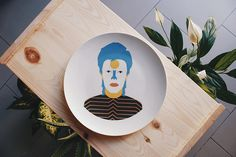 José A. Roda Plates | artnau #plate #bowie