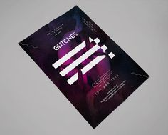 Glitches Poster | arch mc #strong #graphic #brand #poster #gradient #logo