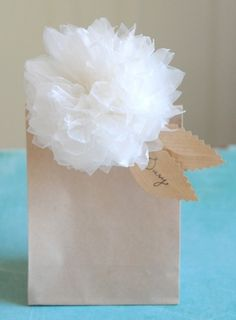 Nice Package - Unique Selection of Gift Packaging Essentials - Nice Package - DIY Waxed Paper Pom Pom Flowers #packaging #decore #paper #flower