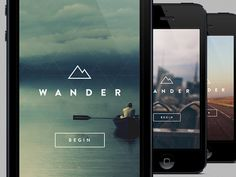 Wander #responsive #web #mobile