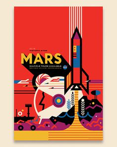 Mars / Invisible Creature for NASA #invisiblecreature #posters #nasa