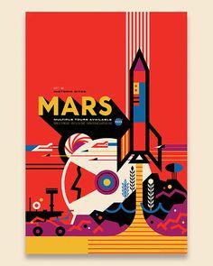 Mars / Invisible Creature for NASA #invisiblecreature #posters #nasa