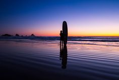 Indian Beach Surfer, Cannon Beach, Clatsop County, Oregon. This photo was featured to describe the rich experience of the Apple iPhone X screen at the keynote event in 2017.