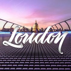 London 🇬🇧 - World series 🌍 - - Background by James Padolsey on @unsplash - #typespire #lettering #calligraphy #handlettering #typet