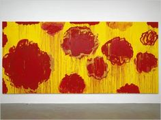 Cy Twombly, Idiosyncratic Painter, Dies at 83 - NYTimes.com #abstract #twombly #brushstrokes #drips #red #yellow #cy #painting