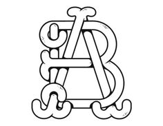 Typeverything.com AB Monogram by André Beato. #icon #type #mark #monogram