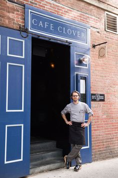 storefront design for cafe clover in nyc / design by sandy ley for love and war nyc
