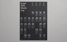 Brazil 2014 World Cup wallchart – Designed by Karoshi #silver #print #grid #poster #metallic