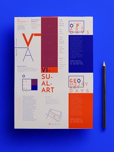 Visual Art Festival #editorial #magazine #cover #color #type