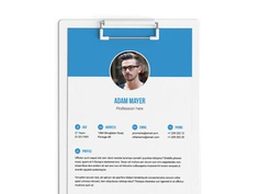 Free Indesign Resume template with Elegant Layout
