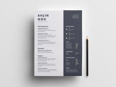 Free Minimal Indesign Resume with Clean Design