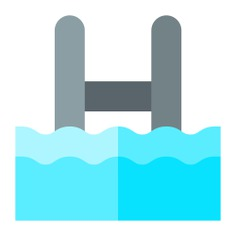 See more icon inspiration related to pool, water, sports and competition, hobbies and free time, swimming pool, summertime, swimming, ladder, sports and sport on Flaticon.
