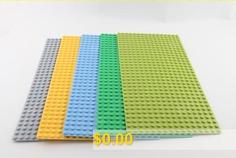 Large #Particle #Building #Block #Bottom #Plate #512 #Hole #Children #Assembled #Oro #Multi-block #Super #Large #Floor #- #GRAY #GREEN #BLUE #RANDOM