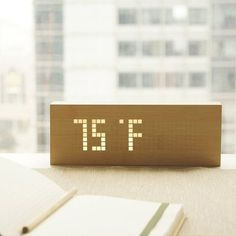 Click Message Clock From Gingko #clock #gadget