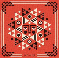 Ty Wilkins - Matuto #sun #song #geometric #illustration #ty #face #wilkins