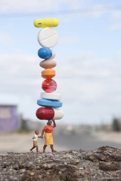 www.streetartutopia 1 #tiny #pills #medicine #meds #photography #shift #miniature
