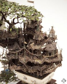 Bonsai by Takanori Aiba #tree #diorama #treehouse #bonsai #miniature