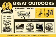Great Outdoors Retro Clip Art