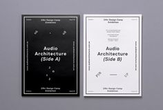 Audio Architecture | COÖP #black #white #poster