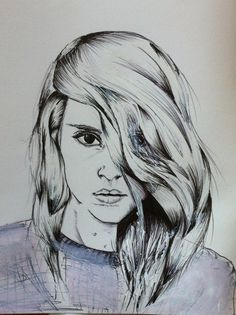 Love this drawing of one of my portraits. nCredit: Sarah Louise Callow #illustration