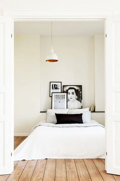 Kevin H. Chung #interior #white #bedroom #home #bed