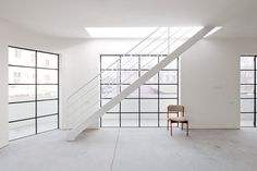 White metal staircase. Apartment building by A N +. © Aviad Bar Ness. #stairway #stairs #staircase