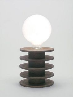 Otto Table Lamp by Kahokia Design, Brooklyn, NY #lamp #oak #ny #design #wood #kahokia #nyc #york #lighting #brooklyn #new