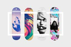 sovrn-2015-skateboard-decks-artist-collection-01 #abstract #deck #graphic #colors #sovrn #skateboard #surreal