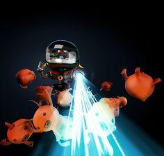 Tempestad & Tormenta Character Design. #cg #robot #c4d #gi #3d