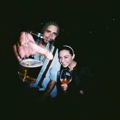 friends #beer #girl #boy #lomography #alcohol #diana #f+ #photography #milan #italy
