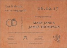 Type On Line - Engagement Invitations #paperlust #engagementinvitation #engagementcard #engagementinspiration #design #paper #printonwood