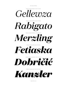 Domaine Typeface Family | Australian Design Biennale #vv