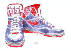 Holly Wales #trainers #holly #nike #illustration #hitops #wales